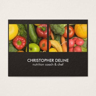 Modern Elegant Vegetables Photo Nutritionist Chef Business Card