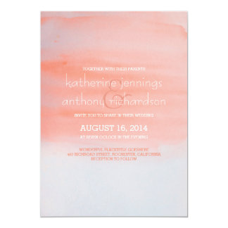 Modern elegant watercolor wedding invitation