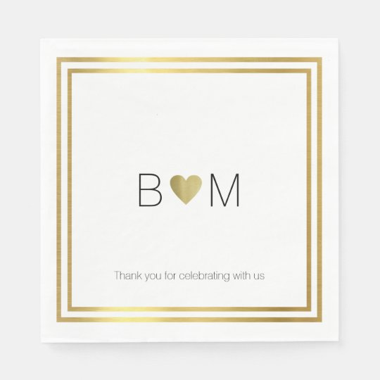modern / elegant wedding celebration party paper napkin