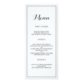 Modern Elegant Wedding Menu Card
