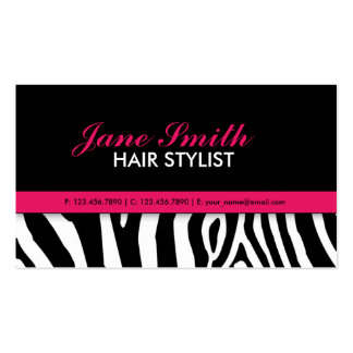 Modern Elegant Zebra Print Professional Stylish Pack Of Standard Business Cards
