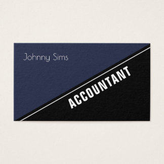 Modern elite stand out diagonal split business card