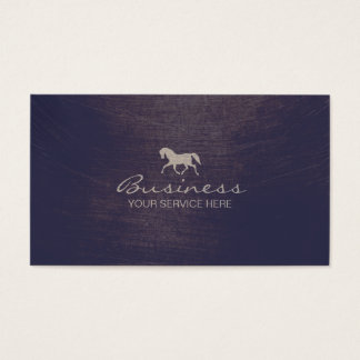 Modern Equine Horse Riding Violet Equestrian Business Card