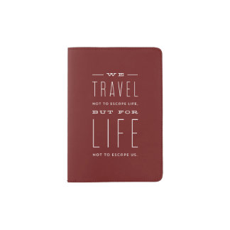 Modern Escape Passport Cover
