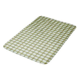 MODERN-ETCHED-DIAMOND'-GREEN-BED-BATH-GALLEY-RUG'S BATH MAT
