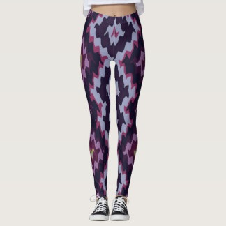 Modern Ethnic Blue Dominant Art Vita1 Leggings