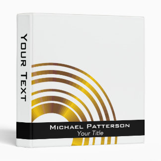 Modern Executive Circles Professional Personalized Binders