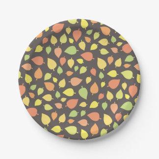 Modern Fall Leaves Paper Plate