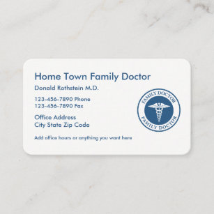 Modern Family Doctor Business Card