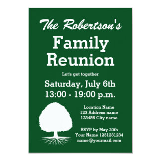 Modern family reunion party invitations