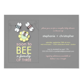 Modern Family to Bee Couples Baby Shower for Girl Card