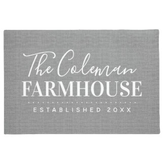 Modern Farmhouse Family Monogram Doormat