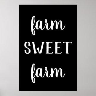 Modern Farmhouse Farm Sweet Farm Print