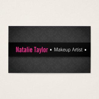 Modern, Fashion, Glamour, Damask, Makeup Artist Business Card
