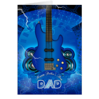 modern father's day card with guitar