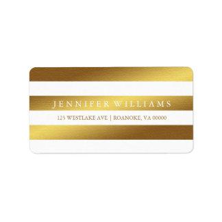Modern Faux Gold Foil Stripes