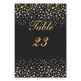 Modern faux gold glitter confetti illustration card