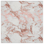 Modern faux rose gold glitter marble texture image fabric