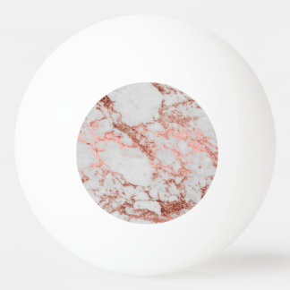 Modern faux rose gold glitter marble texture image ping pong ball