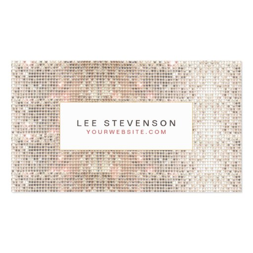 Modern Faux Sequins Beauty and Fashion Retro Business Card Templates