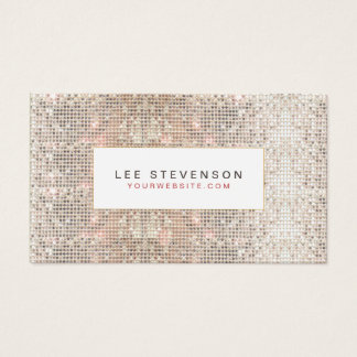 Modern Faux Sequins Beauty and Fashion Retro Business Card