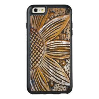 Modern Faux Wooden Sunflower Sculpture Photo Print OtterBox iPhone 6/6s Plus Case