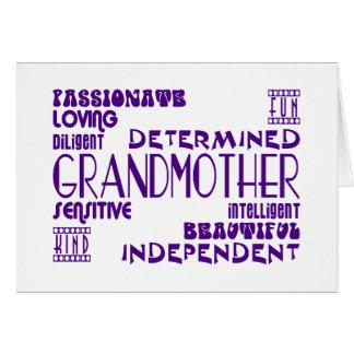 Modern Feminine Chic Stylish Grandmas Grandmothers Card