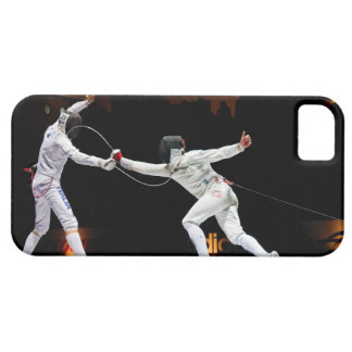 Modern Fencing Sword Fighting Dual iPhone 5 Cover
