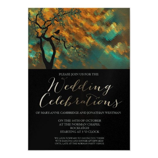 Modern Fine Art Wedding Invitation