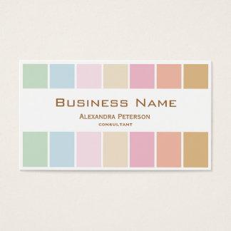 modern fine color pastel palette business card