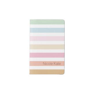modern fine pastel color monogram pocket moleskine notebook