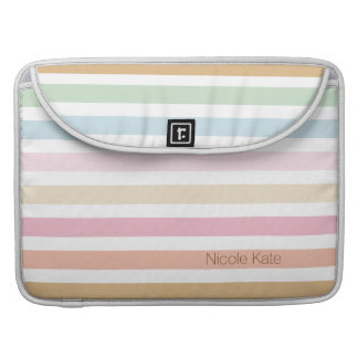 modern fine pastel colors monogram sleeve for MacBooks