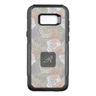 Modern Floral Abstract Monogram OtterBox Commuter Samsung Galaxy S8+ Case