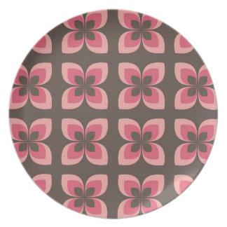 Modern Floral Art Design Plate