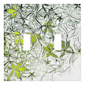 Modern Floral Background 234 Light Switch Cover