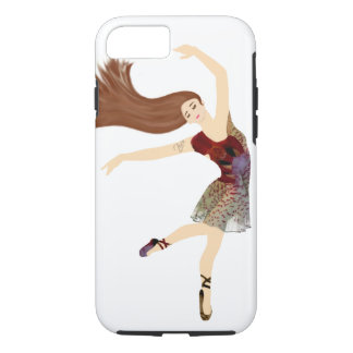 Modern Floral Ballerina dancer monogram Case-Mate iPhone Case