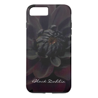 Modern Floral Black Dahlia Summer Garden Flower iPhone 7 Plus Case