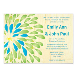 Modern Floral Chrysanthemum Wedding Invitations