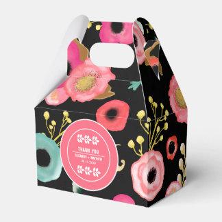Modern Floral Design Custom Wedding Favor Boxes