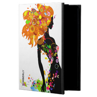 Modern Floral Fashion Girl Illustration Powis iPad Air 2 Case
