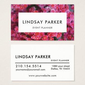 Modern Floral Florist Event Planner Business Card