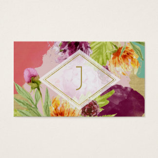 Modern Floral Gold Foil Any Business Card