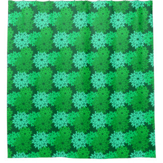 Modern Floral Kimono Print, Emerald and Jade Green