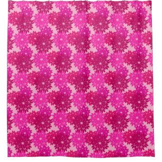 Modern Floral Kimono Print, Pink, Fuchsia and Wine