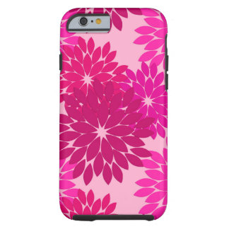 Modern Floral Kimono Print, Pink, Fuchsia and Wine Tough iPhone 6 Case