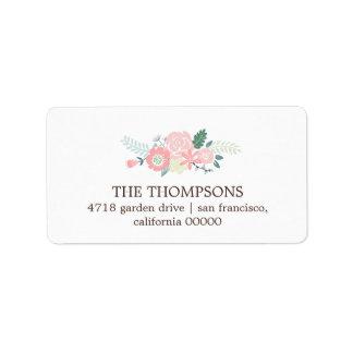 Modern Floral Labels