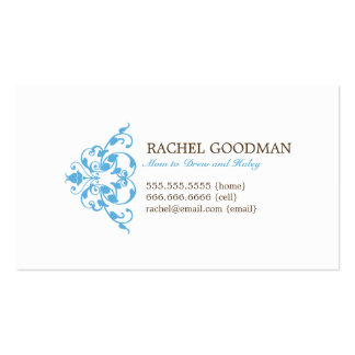 Modern Floral Mommy Card Personal Calling Card Business Card Templates