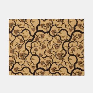 Modern Floral Pattern 401 Doormat
