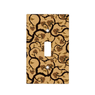 Modern Floral Pattern 401 Light Switch Cover