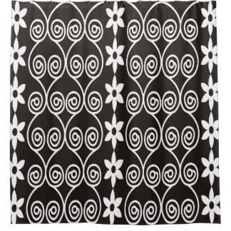 Modern Floral Pattern-Black And White